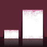 wizytówki projekta kwiecisty letterhead Obraz Stock