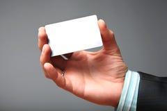 wizytówki pusta ręka Zdjęcie Royalty Free