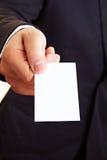 wizytówki pusta ręki ofiara Fotografia Stock