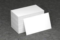 Wizytówki pusty mockup - szablon, 3D ilustracja Obrazy Stock