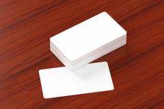 Wizytówki pusty mockup - szablon, 3D ilustracja Zdjęcie Stock