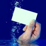 wizytówki pusty underwater fotografia stock