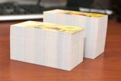wizytówki szereg finansowe Obrazy Stock