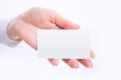 Wizytówki zapowiedzi szablon Fotografia Stock