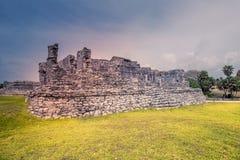 Wizyta antyczny majowia miasto Calakmul Południowy Jukatan, Mex - Zdjęcia Stock