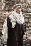 Wizyta piękny średniowieczny miasteczko Umbria region podczas Bożenarodzeniowych wakacji z narodzenie jezusa sceną naturalnych ro Zdjęcia Stock