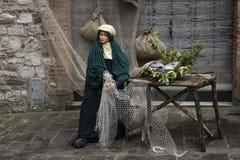 Wizyta piękny średniowieczny miasteczko Umbria region podczas Bożenarodzeniowych wakacji z narodzenie jezusa sceną naturalnych ro Obrazy Royalty Free