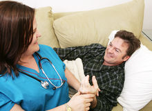 wizyta w domu opieki zdrowotnej Obraz Royalty Free