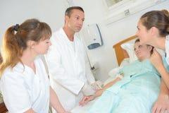 Wizyta w szpitalu Zdjęcia Royalty Free