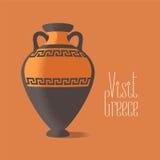 Wizyty Grecja wektoru ilustracja Antyczny amfora wizerunek promuje podróżować Grecja Obraz Stock