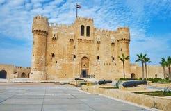 Wizyty Qaitbay fort, Aleksandria, Egipt obraz stock
