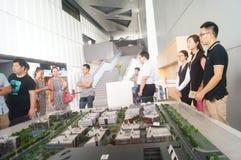 Wizyty Qianhai strefy wolnego handlu budowy planowania krajobraz Zdjęcia Royalty Free