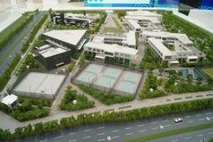 Wizyty Qianhai strefy wolnego handlu budowy planowania krajobraz Zdjęcie Stock