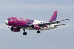 Wizz Air A320 Imagem de Stock Royalty Free