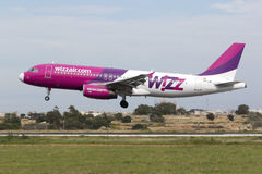 Wizz Air A320 Foto de Stock Royalty Free