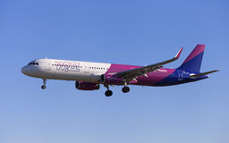 Wizz Air Airbus A321 Imagens de Stock Royalty Free