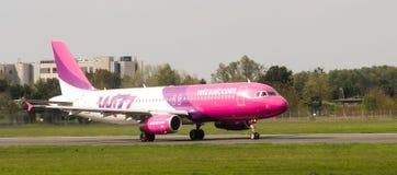 Wizz Air flygbuss A320-232 Arkivfoto