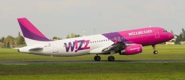Wizz Air flygbuss A320-232 Royaltyfria Bilder