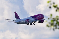 Wizz Luft Airbus A320 Lizenzfreie Stockfotos