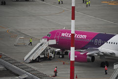 Wizzair A320 Image stock
