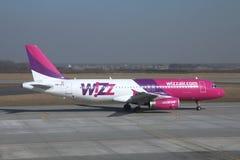 Wizzair - Airbus 320 Photos libres de droits