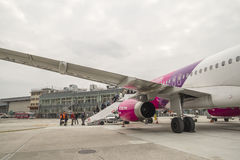Wizzair Airbus at Capodichino Naples Airport Royalty Free Stock Photography