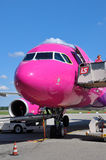 Wizzair airbus A320 Stock Photo