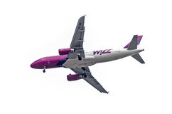 Wizzair aircraft Stock Photography