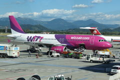 Wizzair aircraft Airbus A320 Stock Image