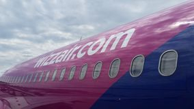WizzAir Airplain detail Royalty Free Stock Images