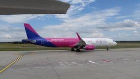 WizzAir Airplain szczegół Fotografia Stock