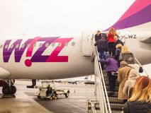 Wizzair plane Royalty Free Stock Photography