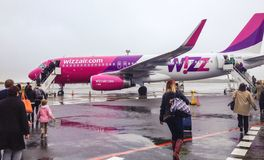 Wizzair plane Stock Photography