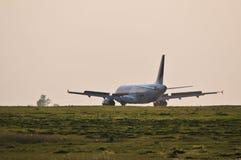 Wizzair plane landing Royalty Free Stock Photos