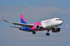 Wizzair plane in new painting Stock Photography