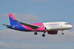 Wizzair plane in new painting Royalty Free Stock Images
