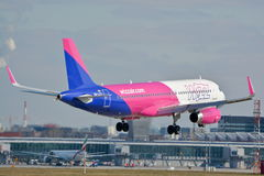 Wizzair plane in new painting Royalty Free Stock Photo