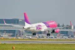 Wizzair plane royalty free stock photos
