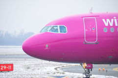 Wizzair plane Stock Photography