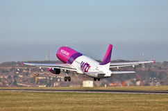 Wizzair takeoff Stock Images