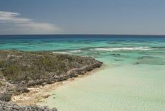 Wjazd przy Kot Wyspą Bahamas Zdjęcia Royalty Free