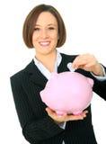 wkładającej zmiany żeński szczęśliwy target1041_0_ Zdjęcia Stock