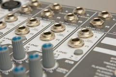 Wkłady i wydajność audio Obrazy Royalty Free