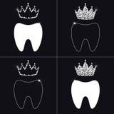 Wklęśnięcie i diamentowa korona abstrakcja, logo Obraz Stock