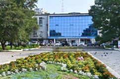 Wladiwostok, Russland, Juli, 23, 2018 Kulturell und Unterhaltungszentrum von Gewerkschaften in Wladiwostok lizenzfreie stockfotografie