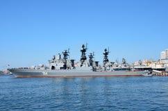 Wladiwostok, Russland, Juni, 03, 2016 Großes U-Boot-Abwehrschiff der Pazifikflotte, ` Admiral Tributs ` Lizenzfreie Stockbilder