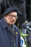 Wladyslaw Bartoszewski. Warsaw, Poland - April 19, 2015: 72nd anniversary of the Warsaw Ghetto Uprising. Wladyslaw Bartoszewski, Polish Prime Minister's Royalty Free Stock Photography