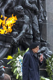 Wladyslaw Bartoszewski. Warsaw, Poland - April 19, 2015: 72nd anniversary of the Warsaw Ghetto Uprising. Wladyslaw Bartoszewski, Polish Prime Minister's Royalty Free Stock Photos