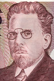Wladyslaw Reymont portrait from old one milion zloty Stock Photos