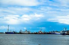 Wladyslawowo港在波兰 免版税图库摄影